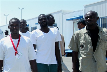 Sudanese workers in Tel Aviv