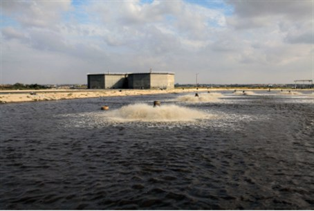Raw sewage plant in Gaza