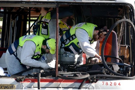 Terror attack on a bus, archive