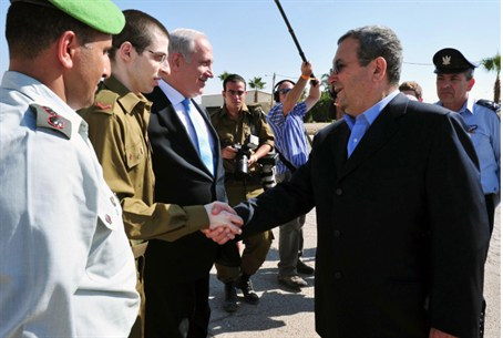Ehud Barak and Gilad Shalit
