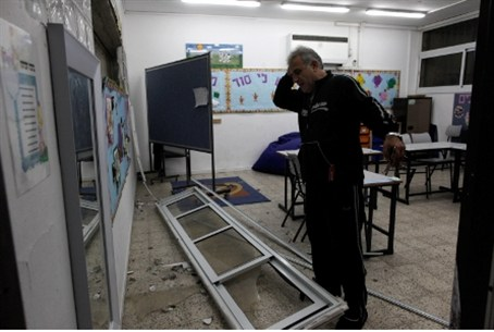 Rocket damage at Ashdod school / archive