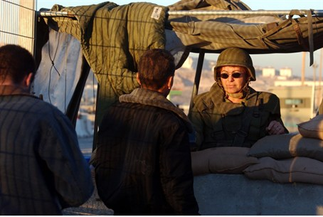 IDF checks PA Arabs at checkpoint