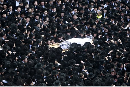 Funeral of Rabbi Nosson Tzvi Finkel