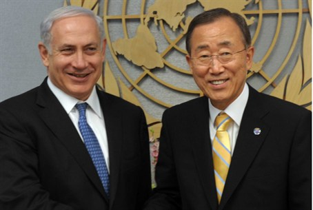 UN Secy-Gen Ban Ki-moon and PM Netanyahu