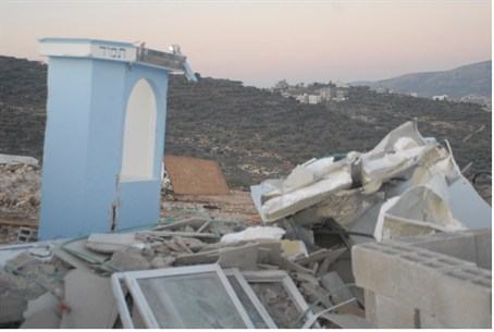 Givat Aryeh demolition six weeks ago