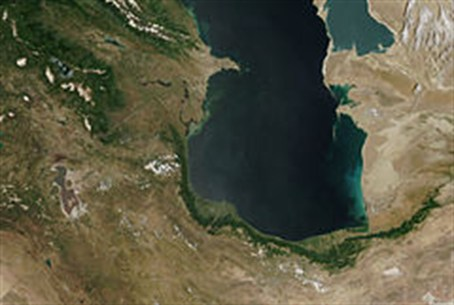 Iranian shore of the Caspian Sea