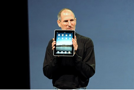 Steve Jobs while introducing the iPad