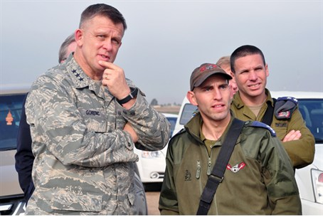 Lt. Gen Gorenc with IDF officers