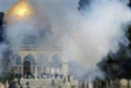 Temple Mount presumably 'under attack'