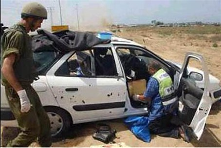 Car in which Gaza terrorists killed Tali Hatu