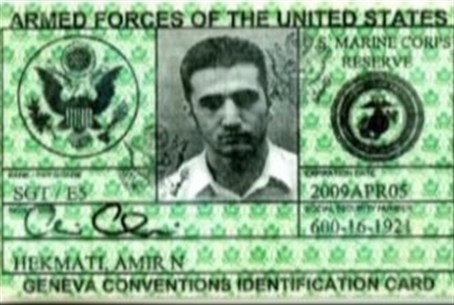 Hekmati's military ID card