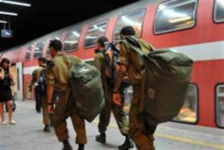Soldiers commuting