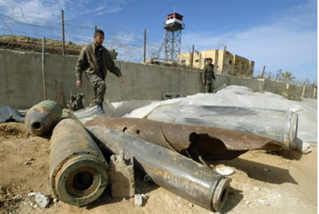 IDF ammunition in Gaza Unexploded .