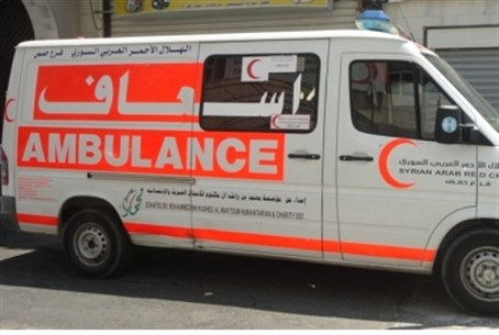Syrian Arab Red Crescent ambulance