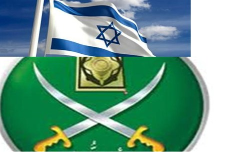 Israeli and Muslim Brotherhood flags