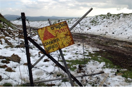 Mine field in Golan Heights (file)