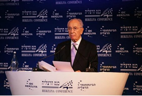 President Shimon Peres at Herzliya Conference