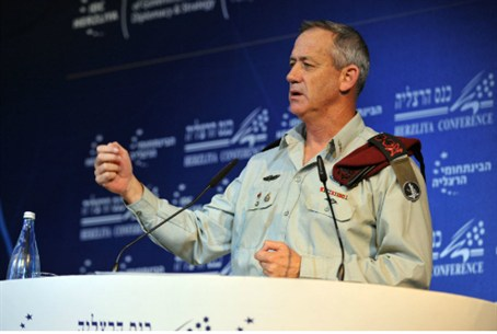 Maj. Gen. Gantz at Herzliya Conference