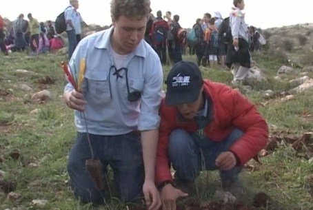 Yuval Kids Plant Trees