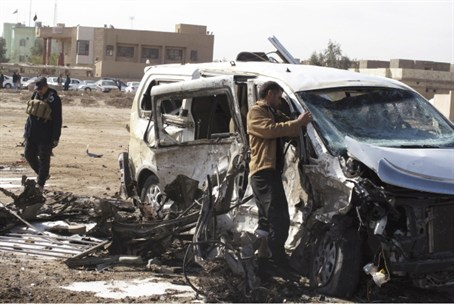 Aftermath of an attack in Iraq (file)