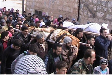 Funerals for Free Syrian Army soldiers; many