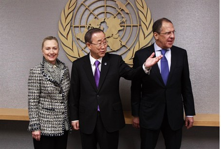 Clinton, Moon, Lavrov