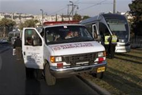 Ambulance at the scene of the attack
