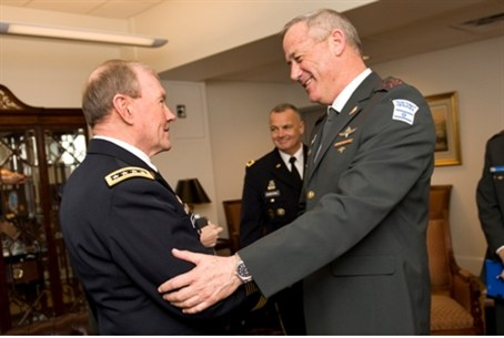 Dempsey (left) and Israel's Lt. Gen. Gantz.