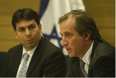 French Ambassador Bigot (right), MK Danon