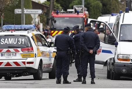 French Police at Toulouse Siege