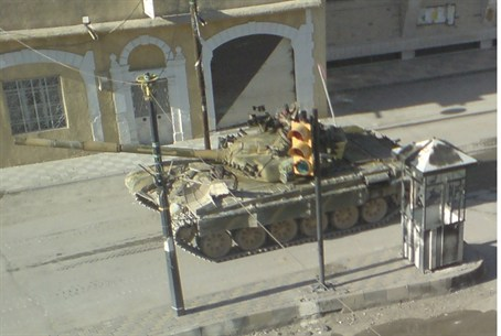 Syrian Tanks Near Damascus