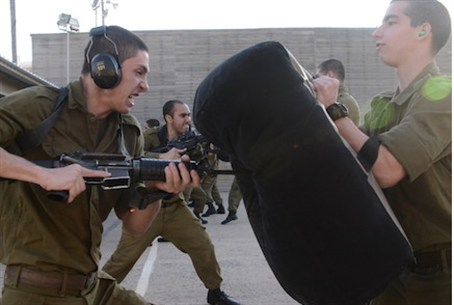 IDF cadets in hand-to-hand combat training