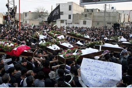 Mass Funeral Near Damascus 26.03.12