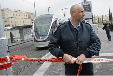 Scene of the attack on light rail.
