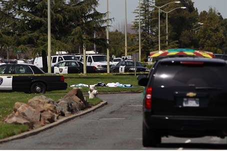 Scene of California shooting attack