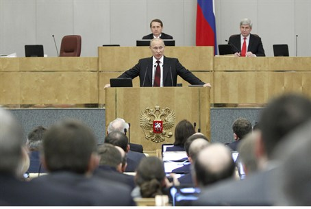 PM Putin in Duma