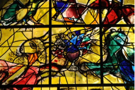 Chagall window - Tribe of Levi - Abbell Synag