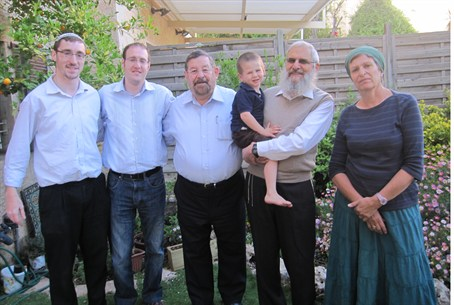 UK Mizrachi visits Ruth Fogel's parents