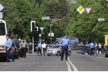 Scene of Dnipropetrovsk blasts