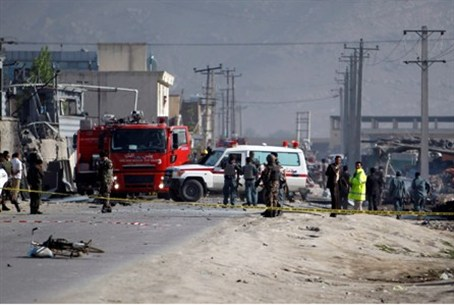 Aftermath of suicide bombings in Kabul