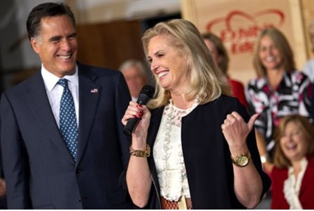 Ann Romney on the campaign trail for her husb