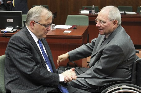 Wolfgang Schaeuble (in wheel chair)