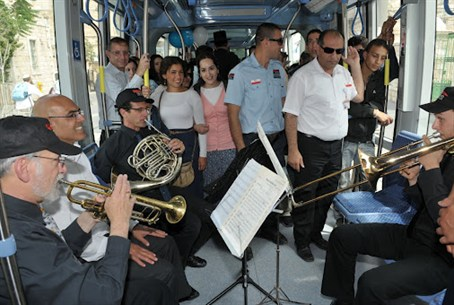 Musical Jerusalem Day on the Light Rail