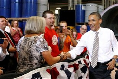 Obama on the pre-campaign trail in Iowa