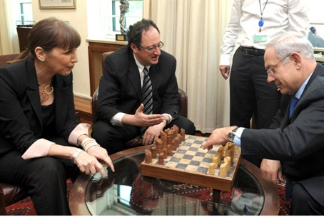 Gelfand with Netanyahu and Livnat