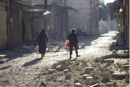 Destruction in Syria (file)