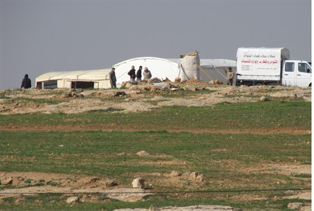 Illegal Arab construction in Susya (file)