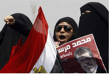 Mursi supporters in Cairo's Tahrir Square