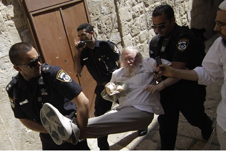 Jew arrested on Temple Mount (illustrative)