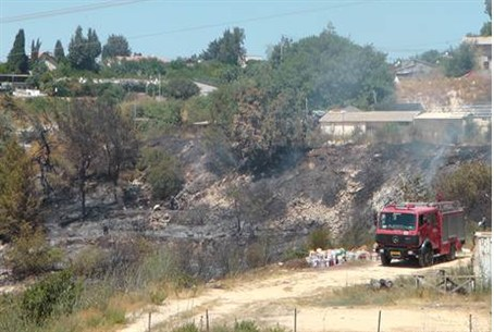 Fire at Aminadav, near Jerusalem